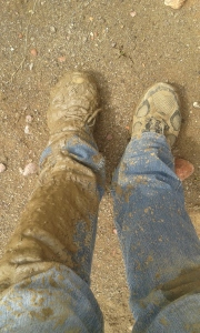 A bit filthy after getting stuck in the mud... :)